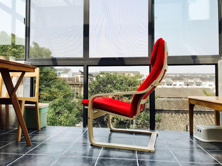 阳光餐厅,休闲躺椅
