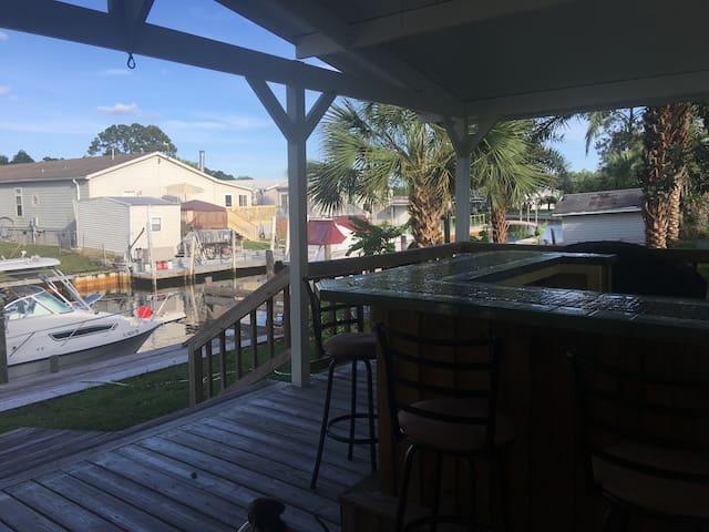 Canal home, NAS, Blue Angels, Tiki Bar,  Beaches,