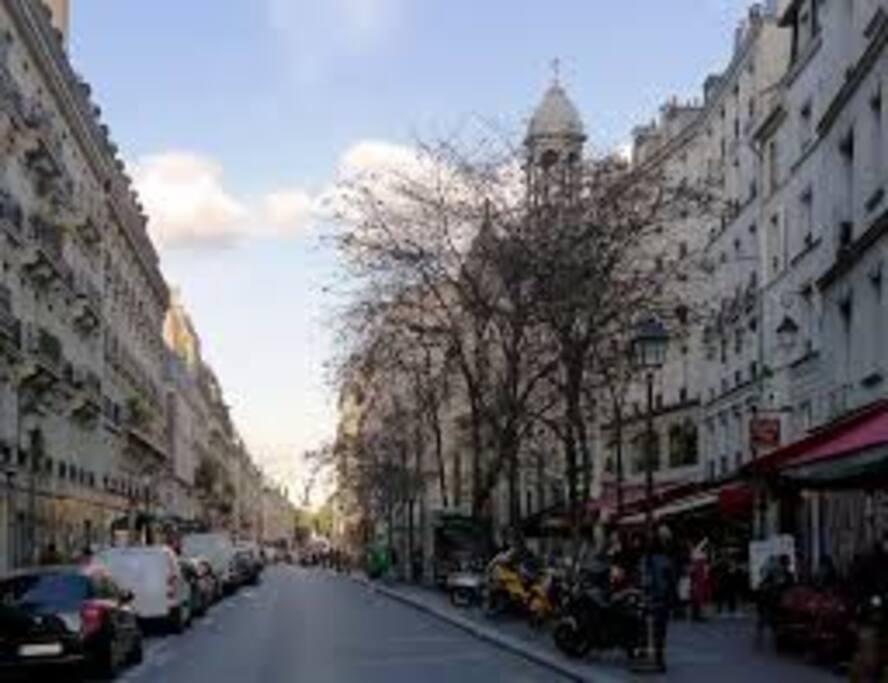 La rue de l'appartement