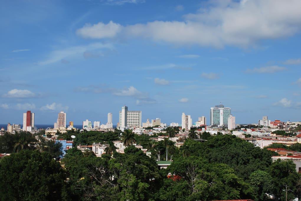 Vista desde las terrazas a La Habana