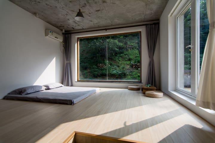 怀柔神堂峪旁山景巍美秀丽的室外景观露台房 - Beijing