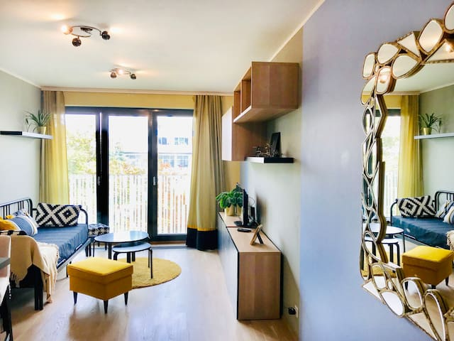 Stylish studio for LONG TERM rent in Prague 3