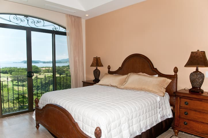 Bedroom 2, enjoy the balcony with the amazing view when you wake up!