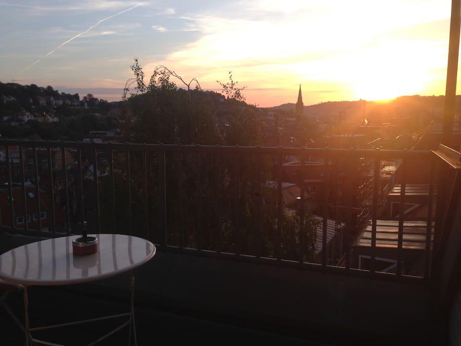 Balkon zum Sonnenaufgang