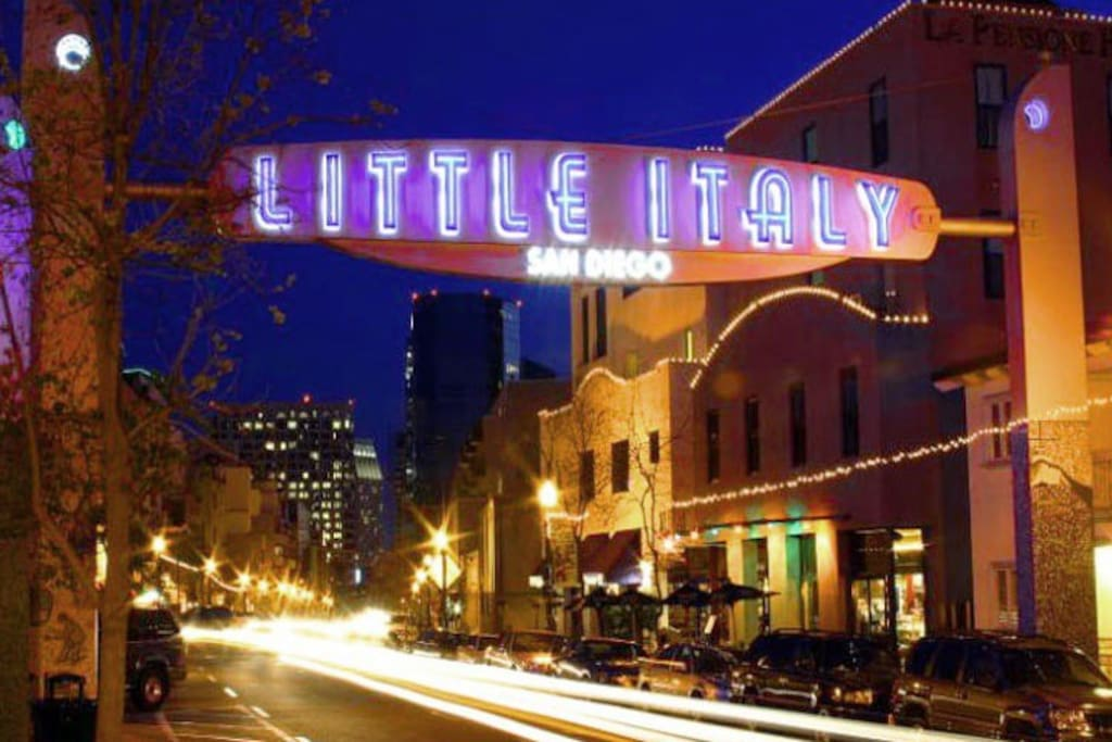 Little Italy! 10 min drive