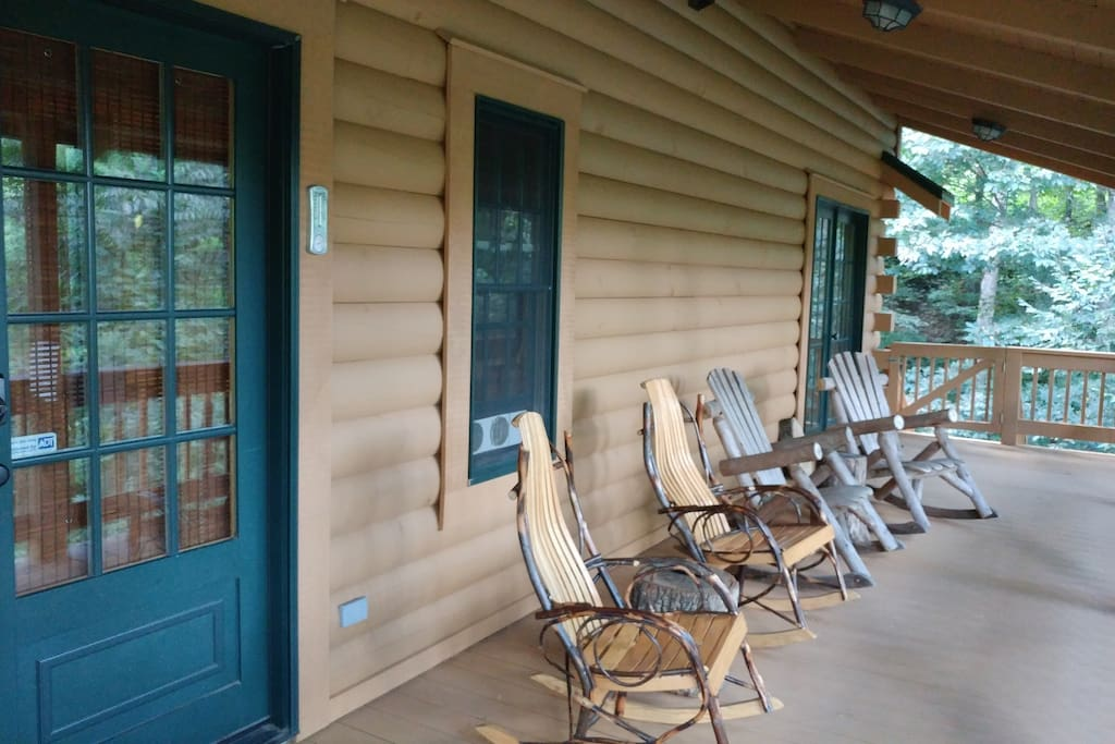 Relax on the rocking chairs