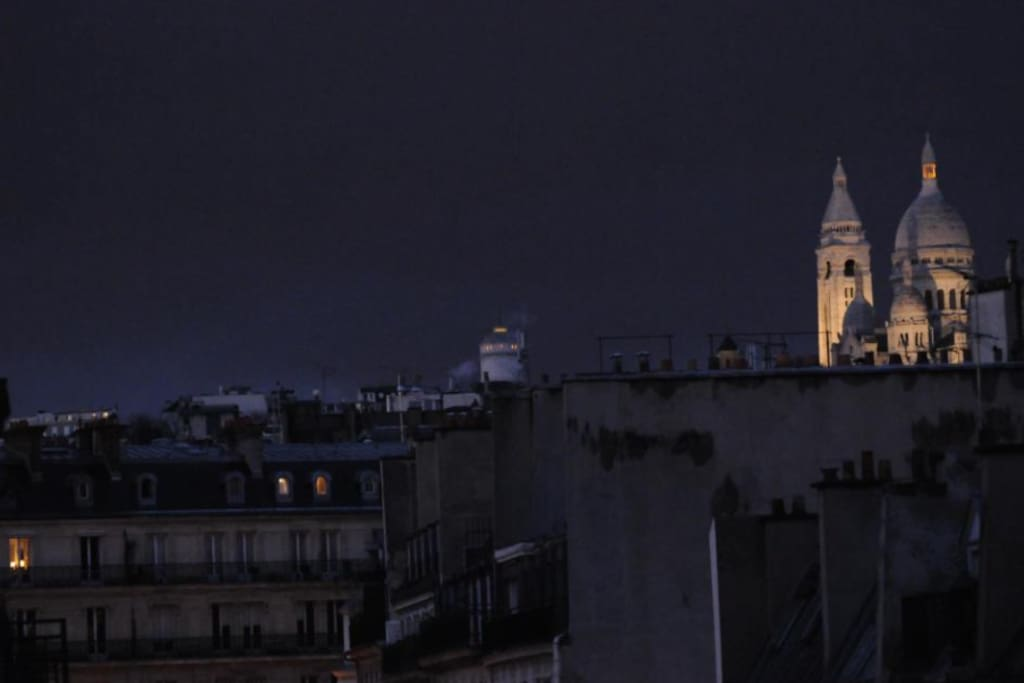 view of sacre coeur church at montmartre