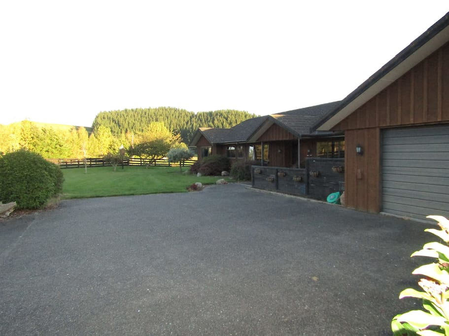 Parking area in front of house