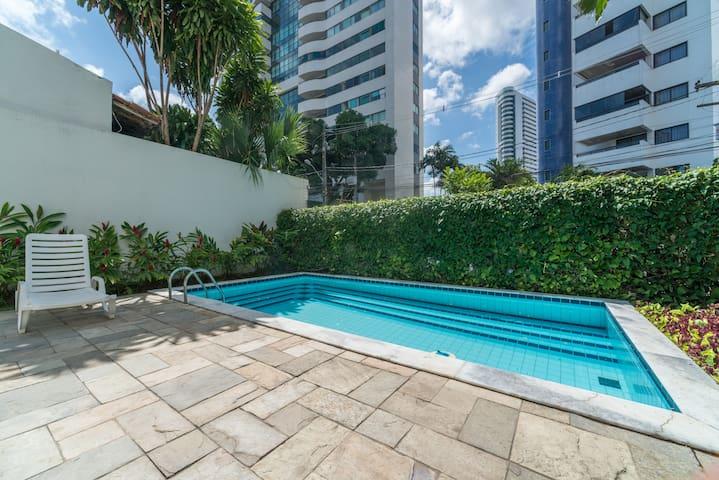 Apartamento Studio (2 qtos, 1 suíte) em Casa Forte - Recife - อพาร์ทเมนท์