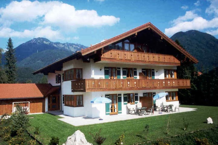 Holiday residence with wonderful view of the Chiemgau Alps.