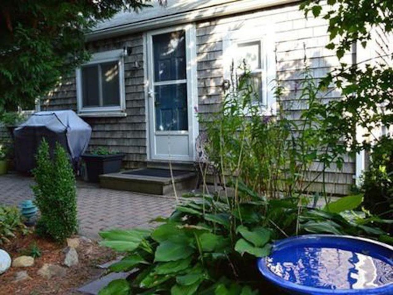 Front Entrance - very cozy & private!  And Close to everything on Commercial Street & Shank Painter Road