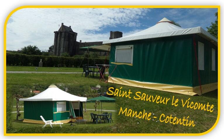 Vue sur le château Vue sur le château & Bungalow - tent - Tents for Rent in Saint-Sauveur-le-Vicomte ...