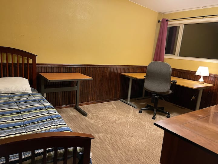 1 - Very spacious private room with large desk