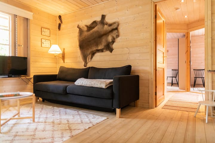 Cozy kids-friendly cabin near Ree Park (Ebeltoft)