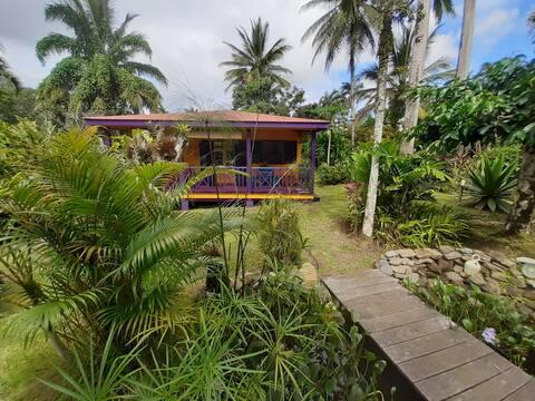 Bungalow Les Lézardes / jardin tropical / rivière
