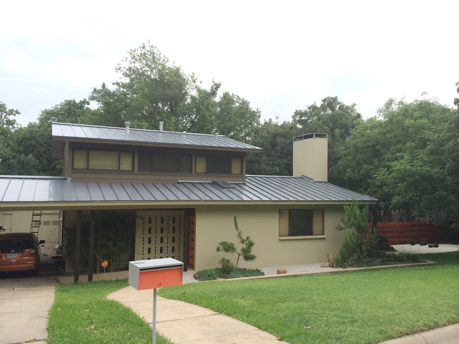 Split level Mid Century Modern. Guests will be on the top floor