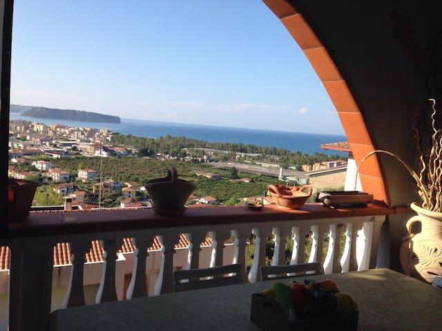 Villetta Panoramica vista mare - Praia A Mare - Řadový dům