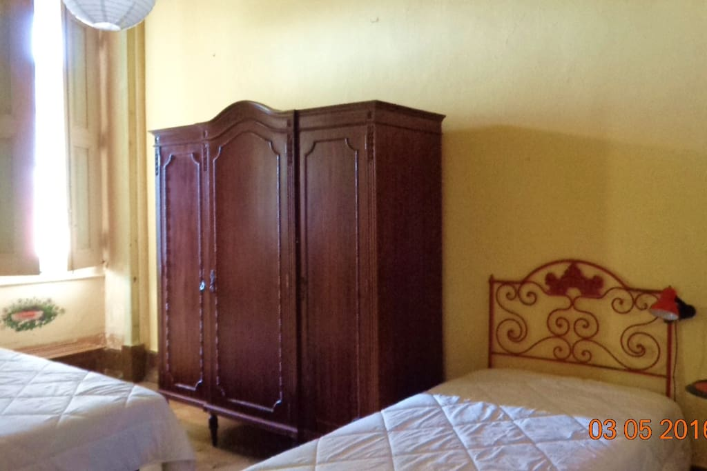 Room for two (2 single beds)