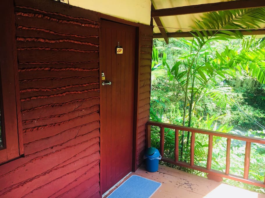 Small little balcony where you can chill in the morning or do your daily yoga practice