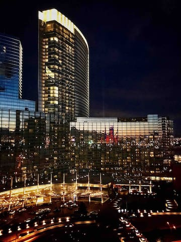 Vdara reflection on Aria hotel