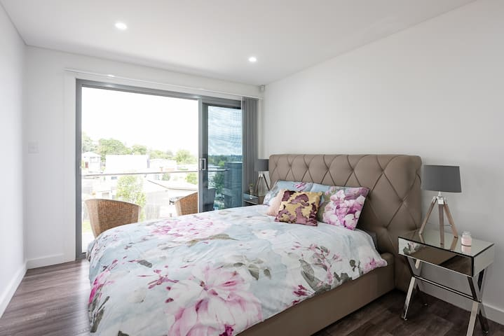 This Elegant Master Bedroom is equipped with its own Ensuite and Balcony with a beautiful view of the surrounding areas.