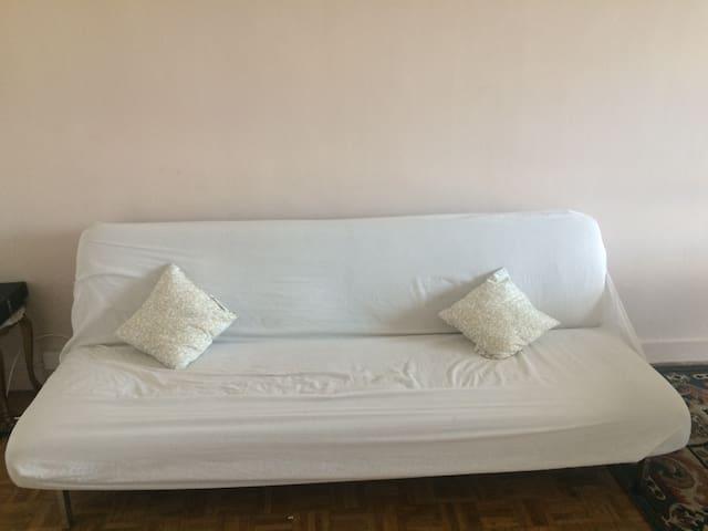 Canapé convertible dans grand salon - Champigny-sur-Marne - Apartment