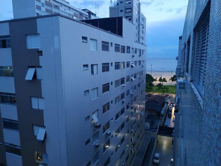 Apartamento em Santos/Gonzaga, Vista pro mar! wifi