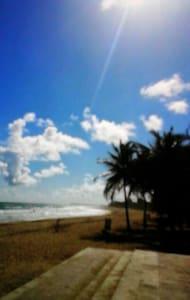 Tropical beach getaway sunny SJ - San Juan
