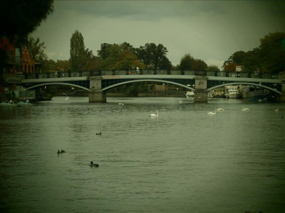 Bridge from Windsor to Eton, &Eton College closeby
