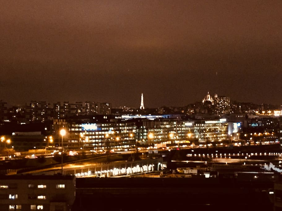 The balcony view on Paris