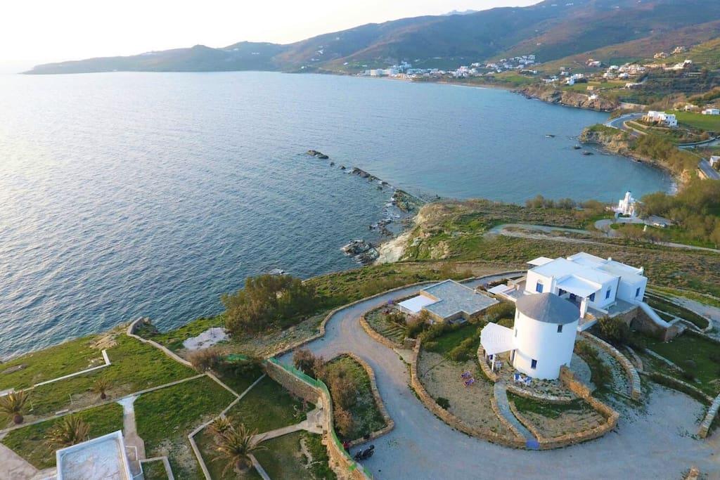 Mulino sul mare a tinos mulini a vento in affitto a for Case in affitto grecia sul mare