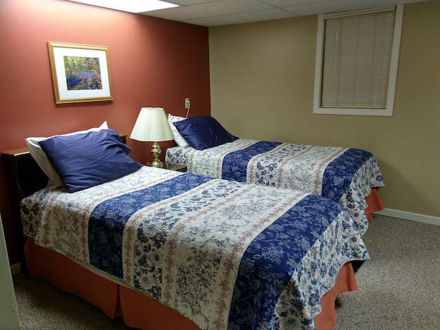 Bedroom #2 available upon request instead of Main Bedroom, or as additional space if needed. Please send an inquiry, and we can send a return offer. Please specify when booking.