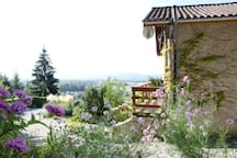 Chambre parentale, piscine, vue panoramique Alpes