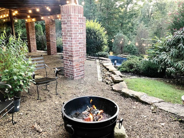 Enjoy the view from the fire pit and see nature all around you!