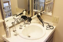 Hairdryer and Filtered Water