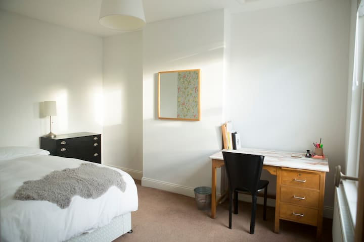 Big sunny room with kingsize bed in nice house - Bristol - Huis