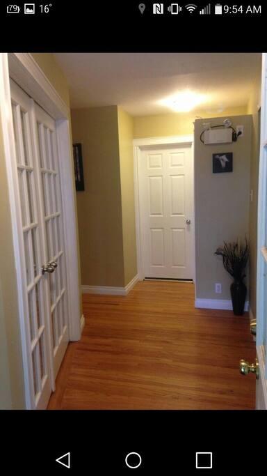 entrance @ front door