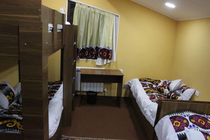 Четырехместная комната в национальном стиле!№3