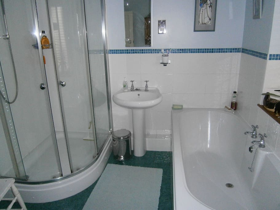 Power shower and large bath