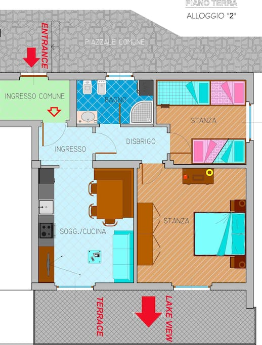 Map of the apartment