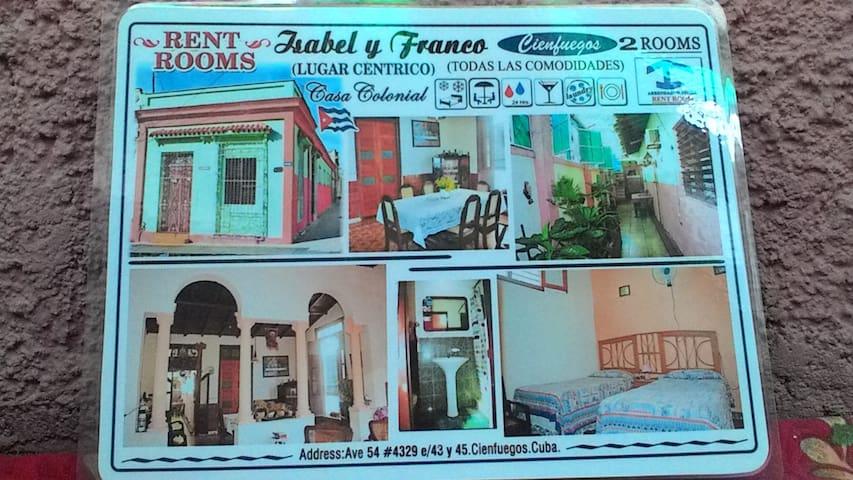 Casa Colonial Isabel y Franco - Cienfuegos - Rumah