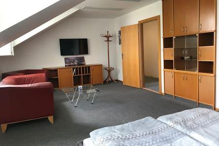 Podkrovní apartmán v Rajhradu, parking, 3 ložnice