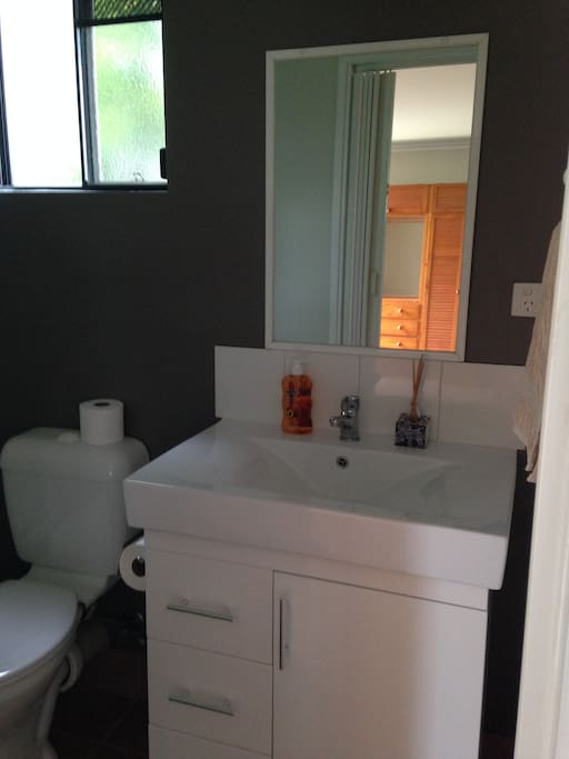 Ensuite with separate laundry