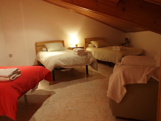 Habitació Quàdruple amb bany compartit a Vilaller - Vilaller - Leilighet