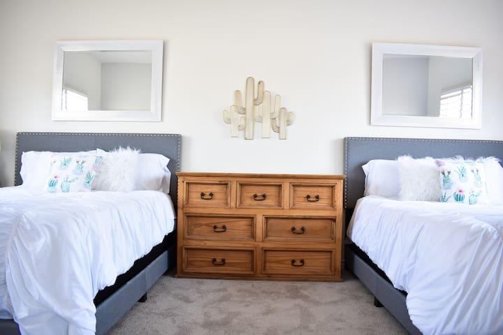 Bedroom(2 queen size memory foam mattresses )
