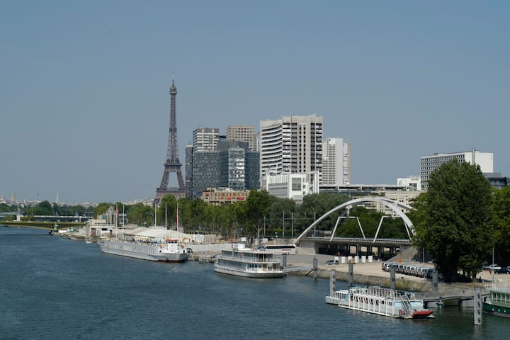 Cosy & Sunny apt - Eiffel Tower - Vue d'exception