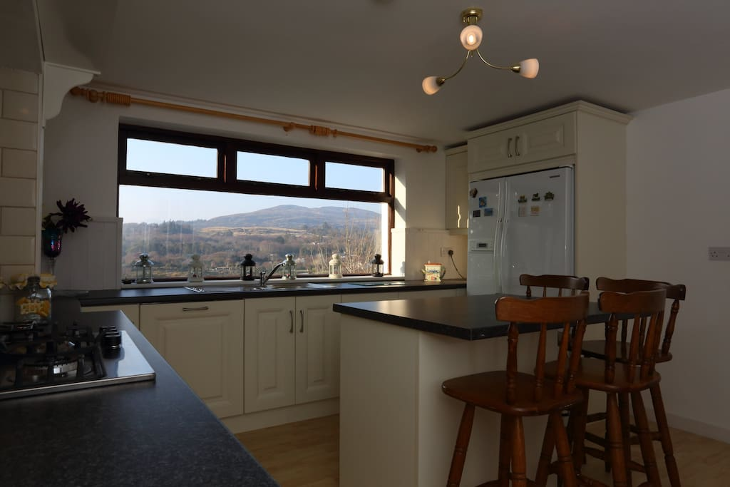Kitchen with beautiful view