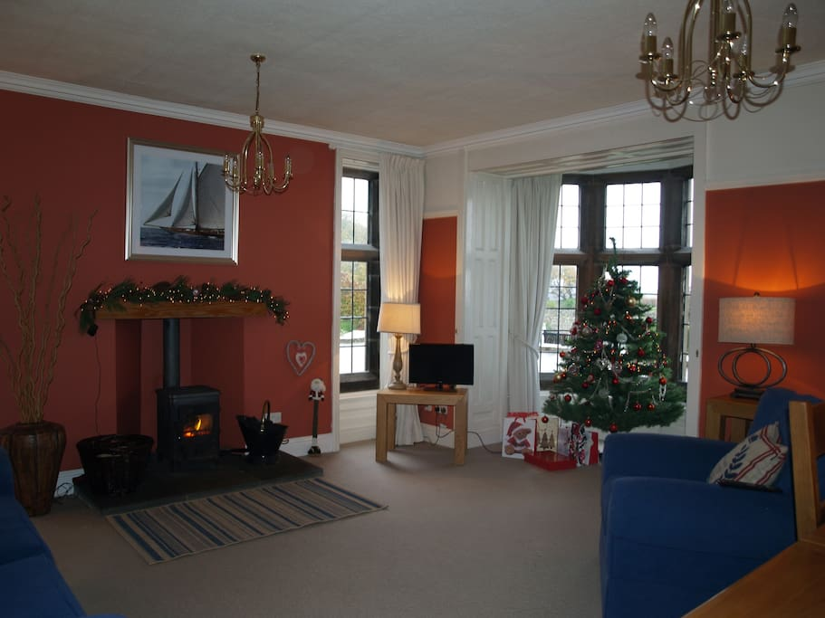the Lounge at Christmas