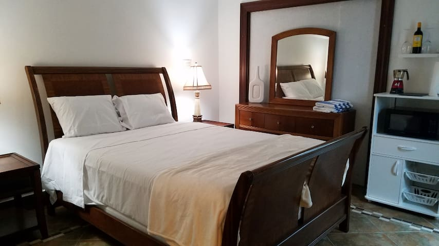 Bedroom with private entrance.