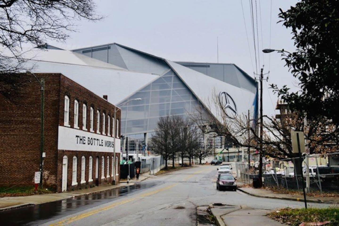 Bottleworks building  - next to Mercedes Benz Stadium